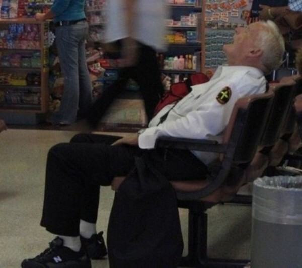 Security Guards Caught Sleeping On The Job!