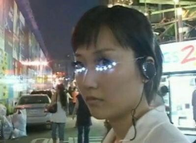 Stand Out with These LED Eye Lashes by Soomi Park