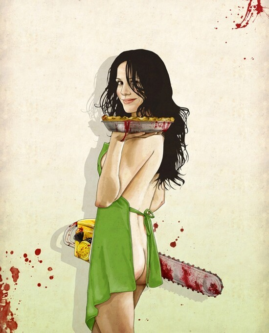 Sexy Illustrations of Starlets Wielding Dangerous Weapons