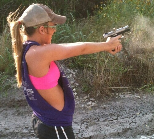 Katie The Hot Texan with a Gun
