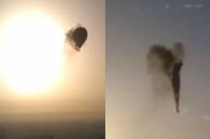 Hot Air Ballon Fell from the Sky in Egypt