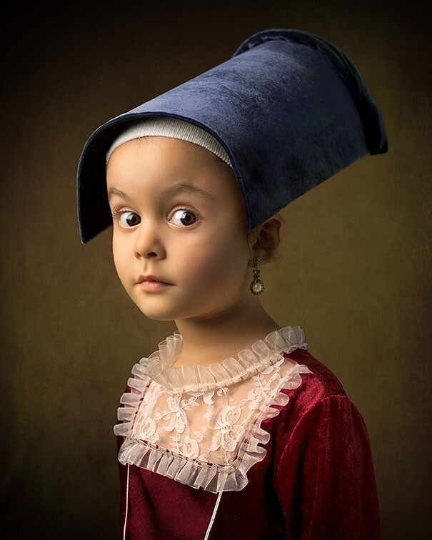 Father and His 5-Year-Old Daughter Recreate Classic Paintings