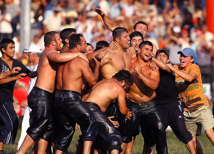 The Rather Inappropriate Turkish Oil Wrestling!