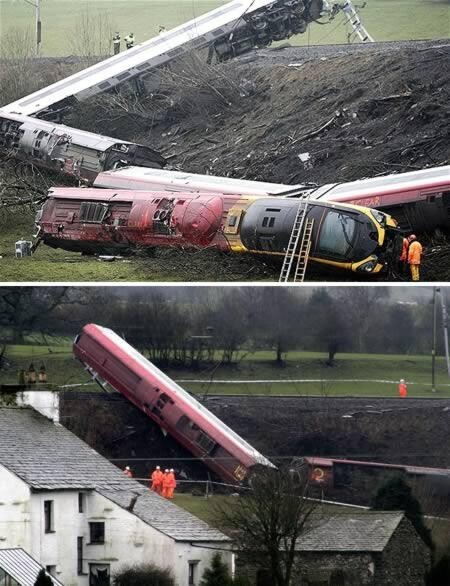 Miraculous train derailment with only one casualty