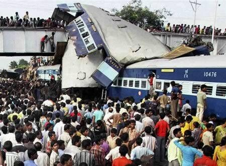 Train collision in India