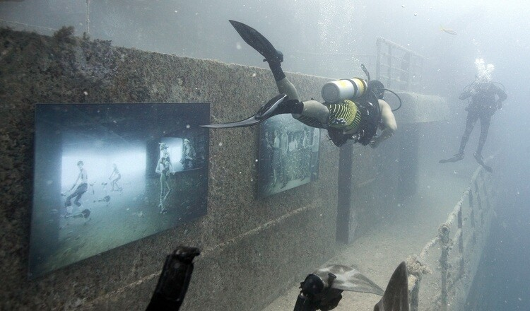 Astounding Wrecked Ship Underwater Art Gallery.