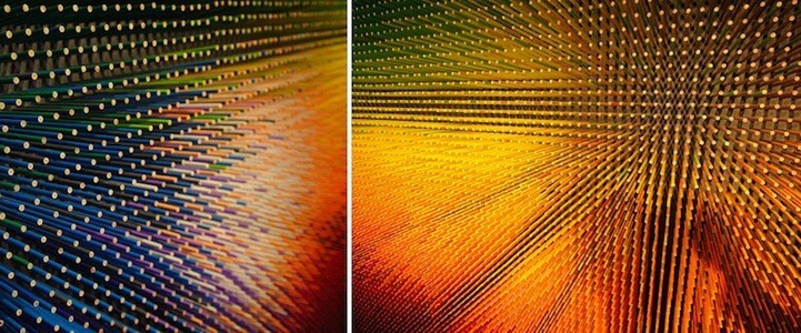 14-Foot Wall Built Out of 12,000 Colorful Pencils