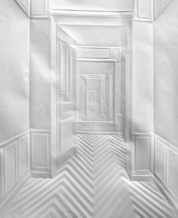 Incredible Folded Paper Art by Simon Schubert
