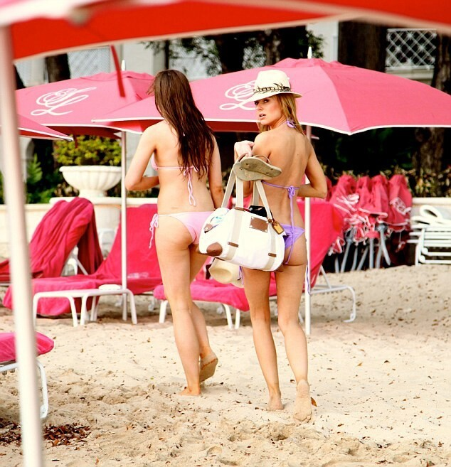 Kimberley Garner Makes a Spectacle of Herself on Barbados Beach