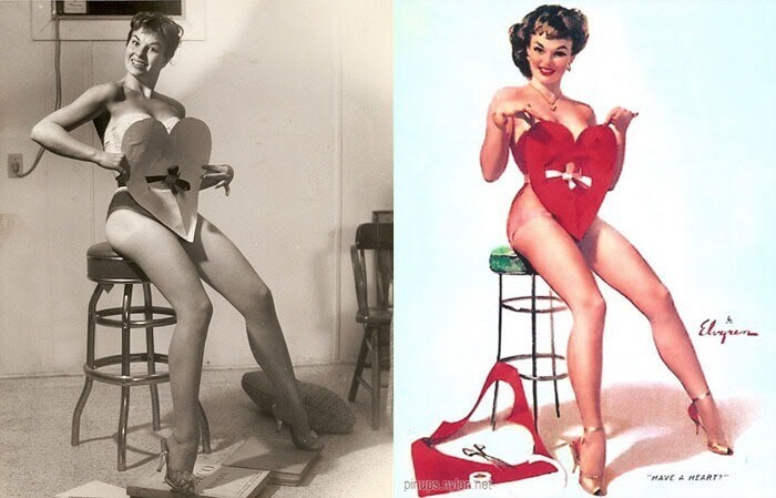Gil Elvgren's Pin-Up Girls And Their Photo Reference