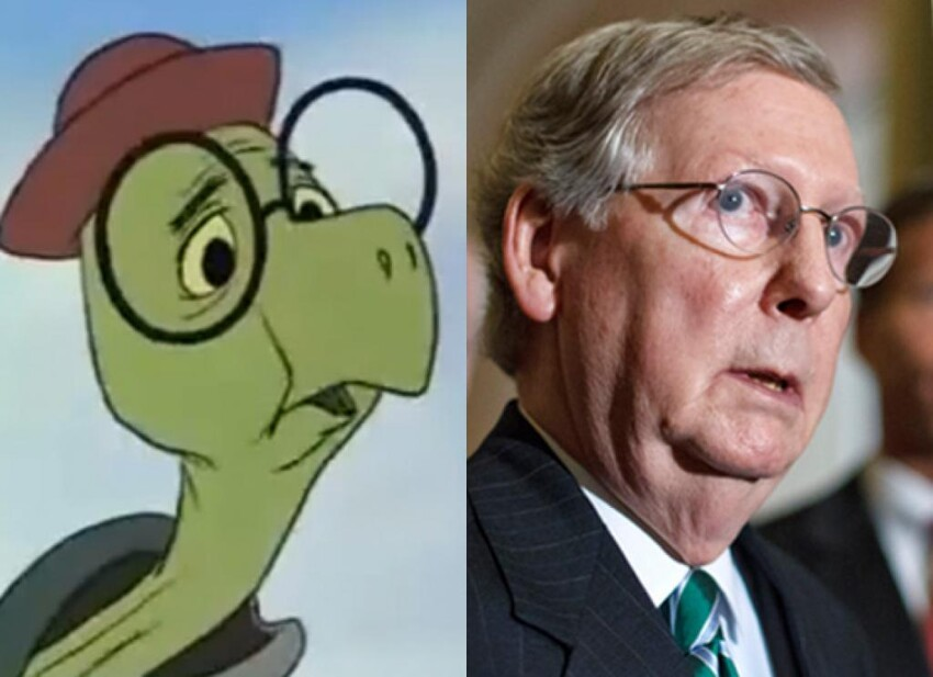 Senate Minority Leader Mitch McConell & Toby Turtle (Robin Hood)