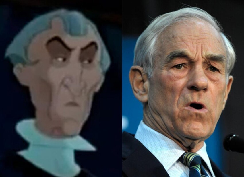Rep. Ron Paul & Claude Frollo (The Hunchback of Notre Dame)