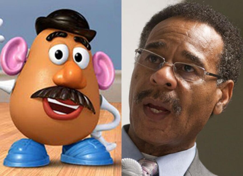 Rep. Emanuel Cleaver & Mr. Potato Head (Toy Story)