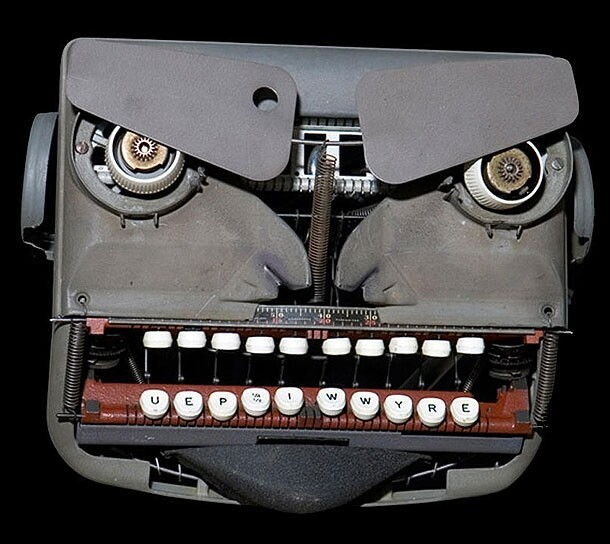 Typewriter Angry Face