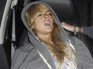 Lindsay Lohan Passed Out In A Car