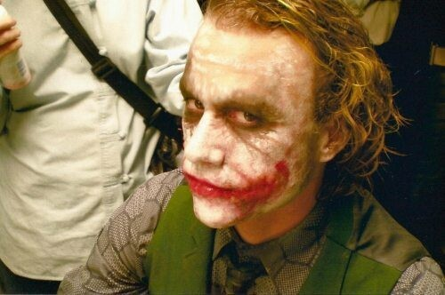 Getting Makeup Done Heath Ledger
