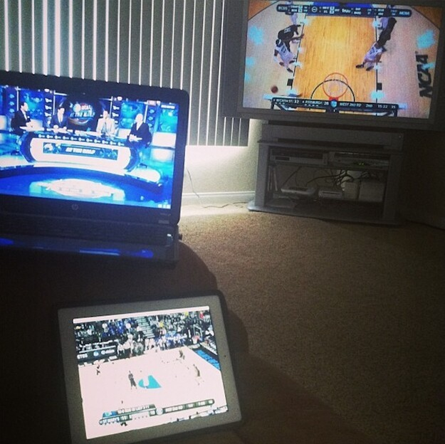 Laptop, Tablet and TV