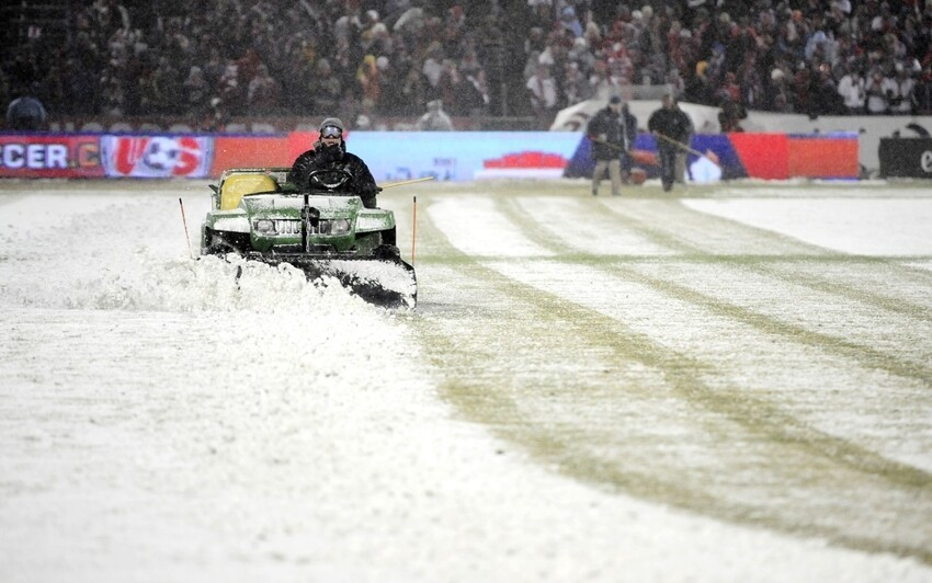 Snow Plowing The Field