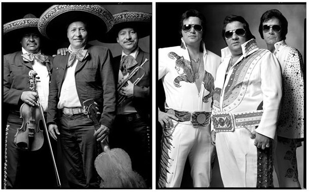 The Mariachi's and Elvis impersonators