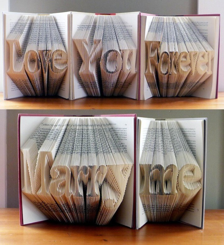 Love You Forever, Marry Me - Amazing Book Folding Art