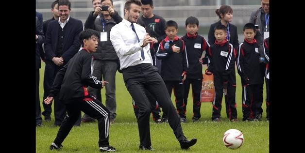 Playing Soccer With Kids In China