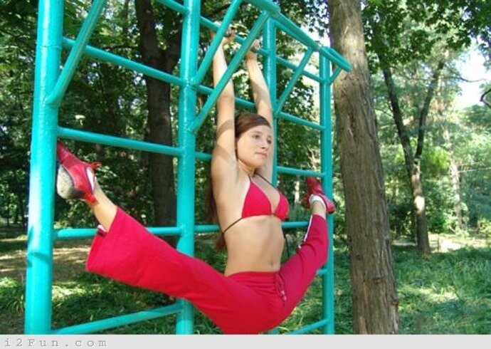 Stretching At The Park