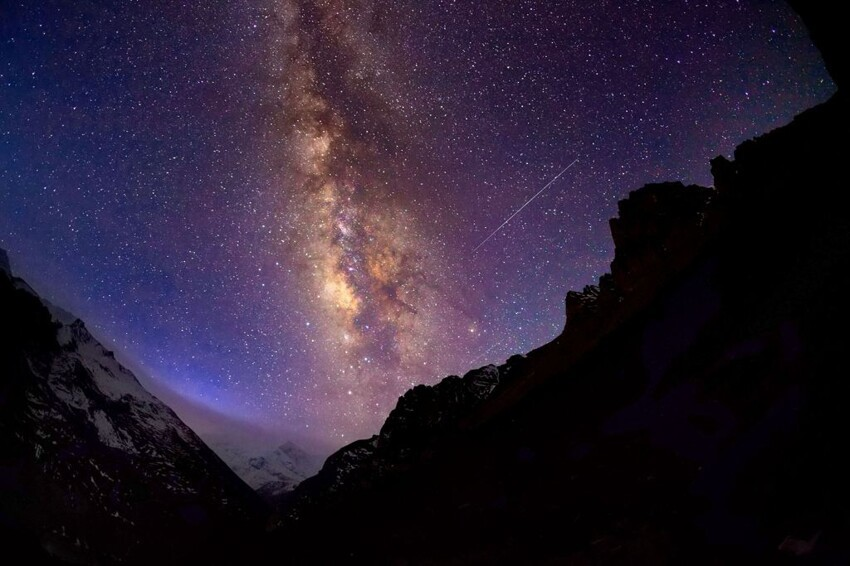 Milky Way on top of the Mountain