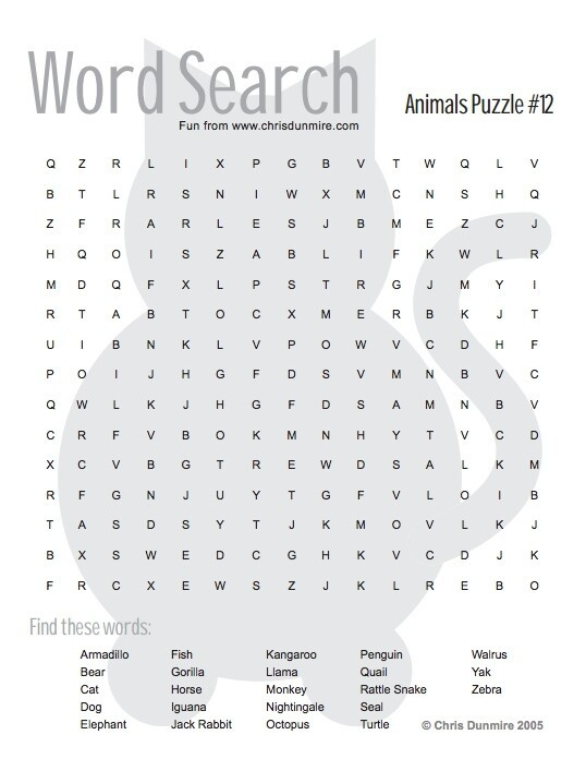 An unsolvable word search.
