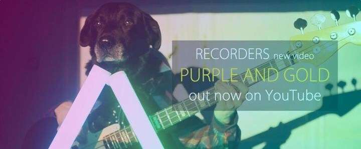 """Purple and Gold"" by Brussels-based band"
