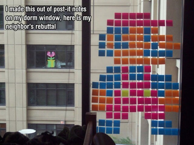 Super Mario Post it Notes Figures
