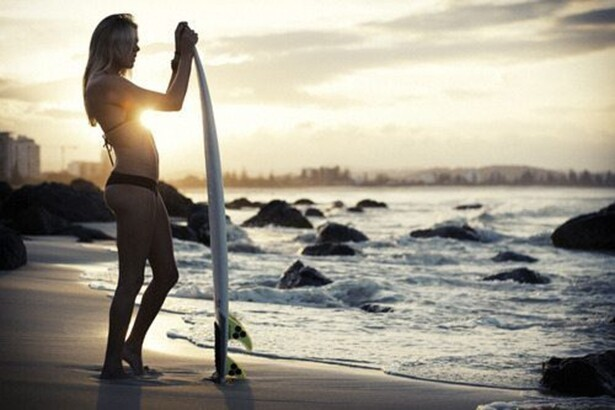 Gorgeous Surfer Babe
