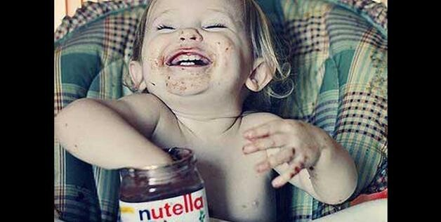 Baby With Nutella