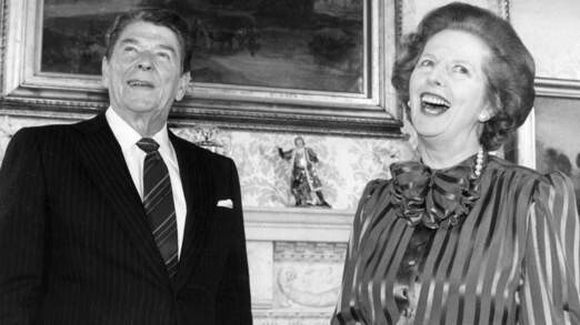 Margret Thatcher with President Ronald Reagan