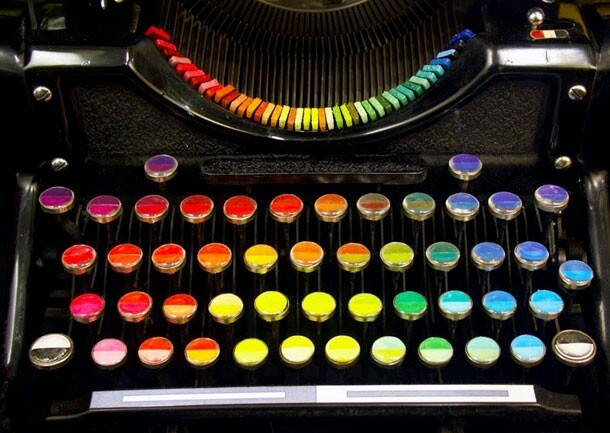 This Incredibly Cool Chromatic Typewriter Types Out Art