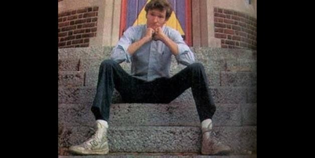 Conan O'Brien outside the Harvard Lampoon's building. He graduated in 1985.