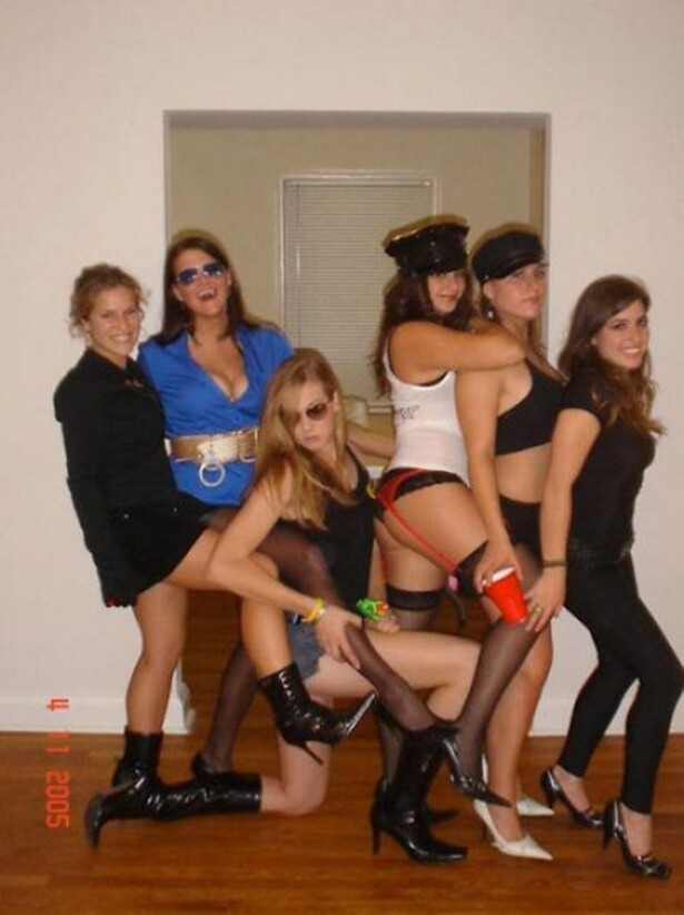 Sexy College Girls Dressed Up Ready To Party