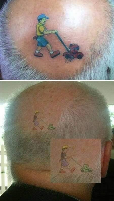 Tattoo it with humor