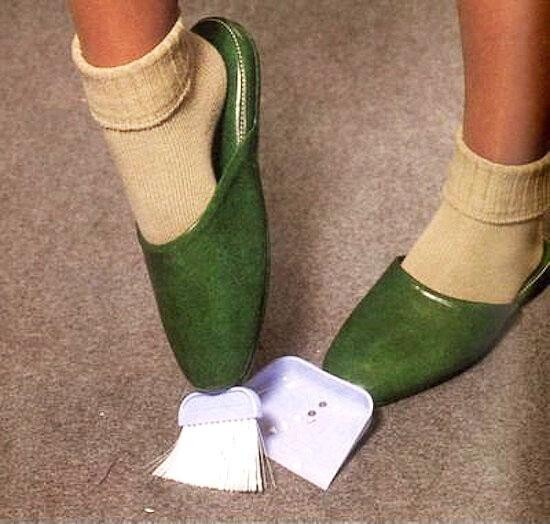 Slippers That Double Up As A Dustpan