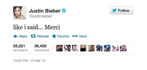 The Stupidest Justin Bieber Tweets That Got At Least 50,000 Retweets