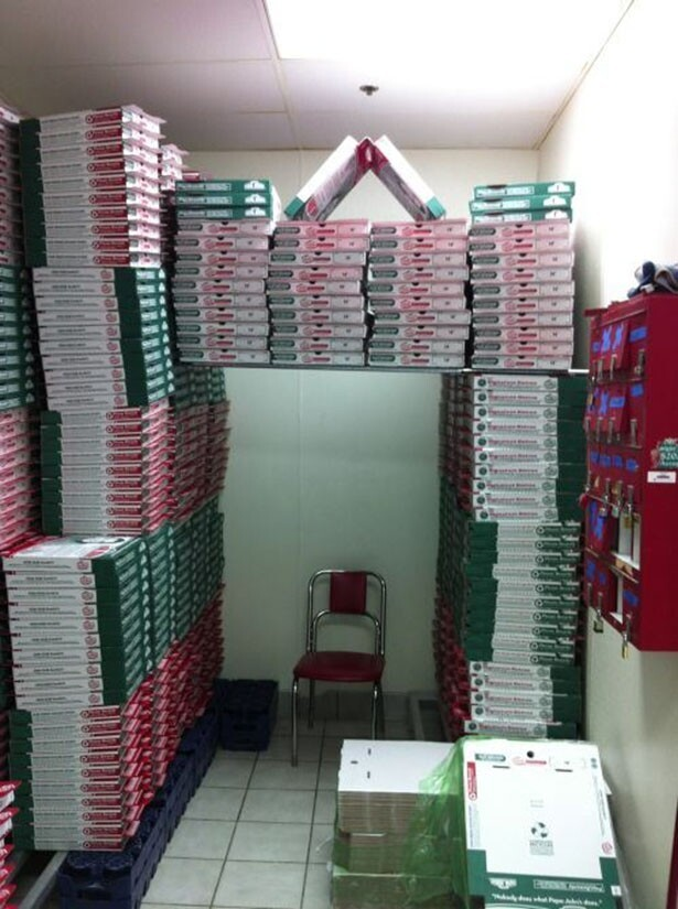 pizza box fort