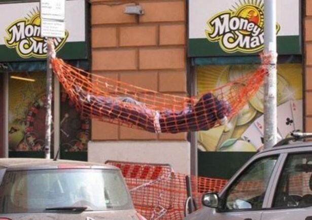 Hammock in the streets