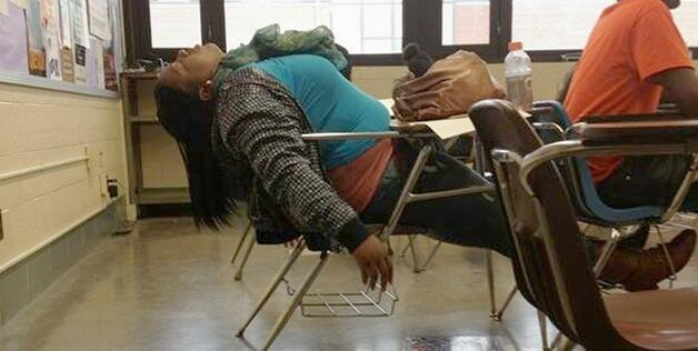 Is class really boring? Time is clearly better spent by taking a nap at your desk.