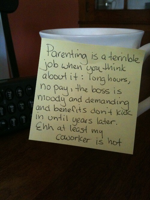 Stay-at-home Dad Puts Up Hilarious Post it Notes Around the House