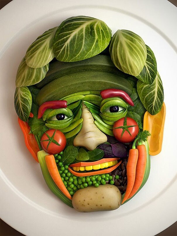 9. Vegetable Face