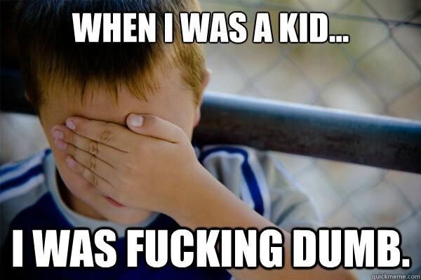 The Best Of The Confession Kid Meme Reminds Us We Were Stupid As Kids