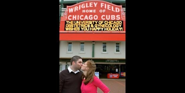 Wedding Proposal In Front Of Gynecology Sign