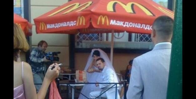 Nothing classier than a wedding at McDonald's