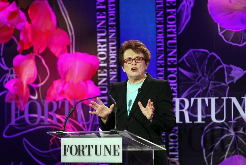 Billie Jean King, co-founder of World Team Tennis, Former Tennis Player