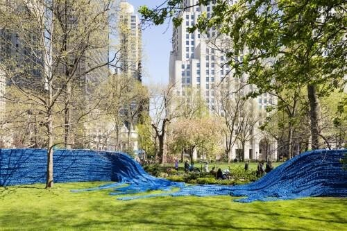 Red, Yellow and Blue, A Colorful Art Installation in New York City