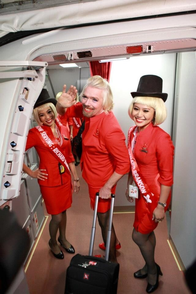 Richard Branson Dressed As Ugly Woman